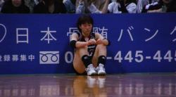 試合後の吉田