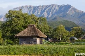 茅葺き小屋